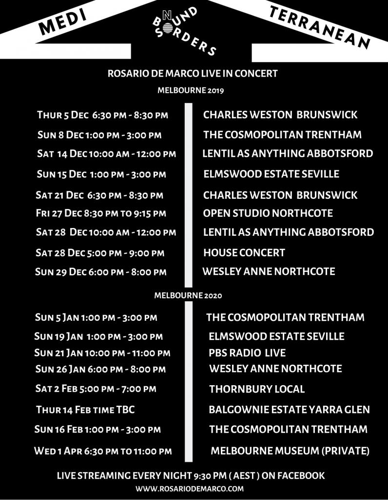 Rosario De Marco concert dates